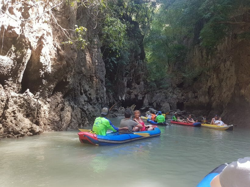 James Bond Island in Canoes