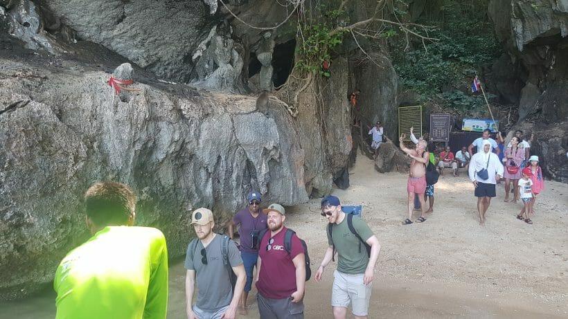 Tourist on James Bond Island