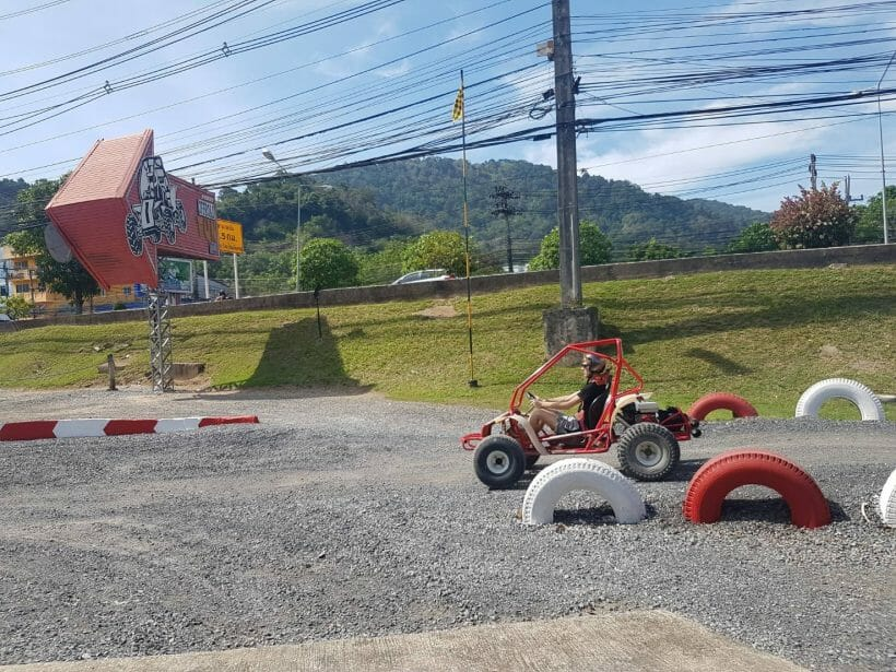 Buggies off road in Patong