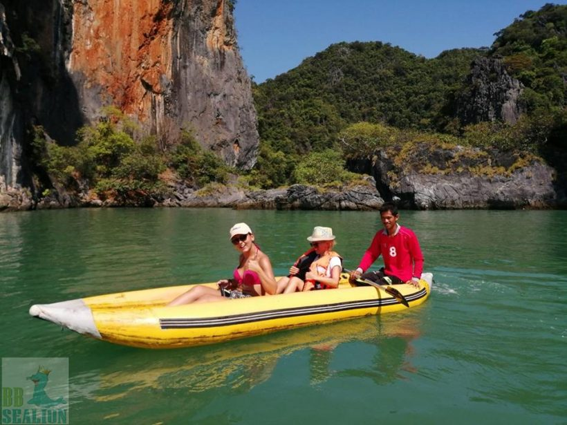 Canoes at james bond
