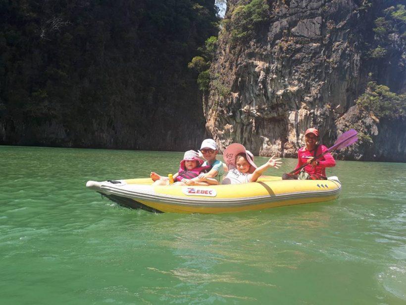 canoeing James Bond island
